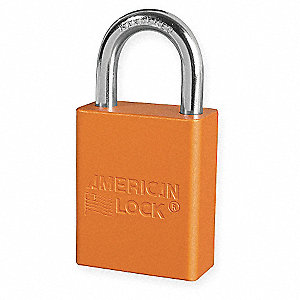 Orange Lockout Padlock, Different Key Type, Master Keyed: No, Aluminum Body Material
