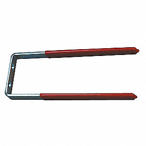 Steel Hook,Red Vinyl Coated,1/2 In L
