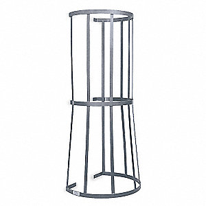 "Ladder Safety Cage, Middle Section, 7 ft. Overall Height, 29"" Inside Dia."