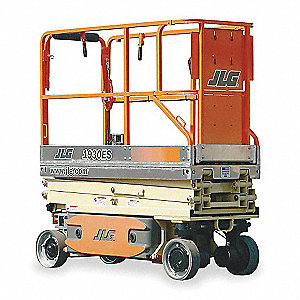 Scissor Lift, Driveable Drive, 4 x 6VDC, 220Ah Power Source, 25 ft. Max. Work Height