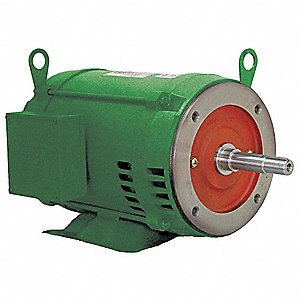 25 HP Close-Coupled Pump Motor,3-Phase,3530 Nameplate RPM,208-230/460 Voltage,256JM