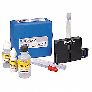 Water Testing Kit, Sulfide, 0.2 to 20 PPM