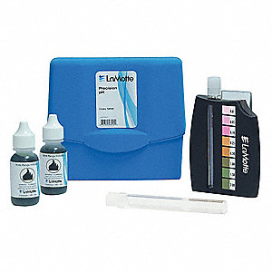 Water Testing Kit, pH, Range 3.0 to 10.5