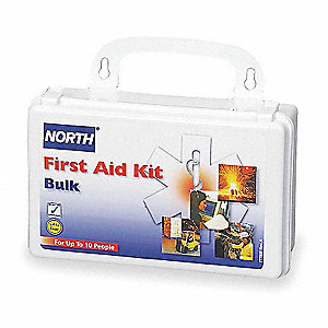 First Aid Kit,Bulk,White,10 People