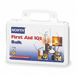 First Aid Kit, Kit, Plastic Case Material, Workplace, 25 People Served Per Kit