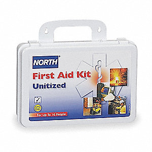 First Aid Kit,Unitized,White,8 People