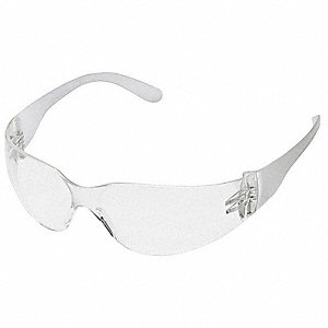 Condor  V Uncoated Safety Glasses, Clear Lens Color