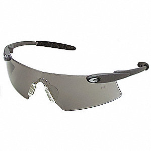 Persuader  Scratch-Resistant Safety Glasses, Gray Lens Color