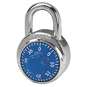 "Combination Padlock Center-Dial Location, 3/4"" Shackle Height"