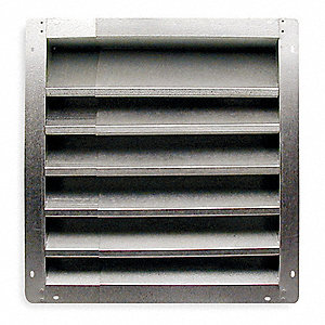 Louver,Intake,36-48 In,Galvanized Steel