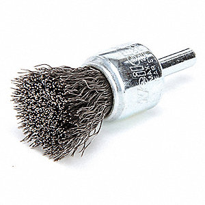 "2-1/4"" Crimped Wire End Brush with Carbon Steel Fill Material and 0.0104"" Wire Dia."