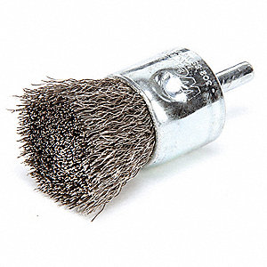 "3"" Crimped Wire End Brush with Stainless Steel Fill Material and 0.010"" Wire Dia."
