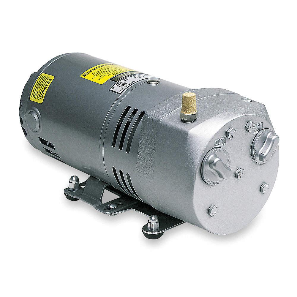 gast 1/4 hp hp compressor/vacuum pump; inlet size: 1/4 in npt, outlet size:  1/4 in npt - 4f740|0523-v191q-g588ndx - grainger  grainger