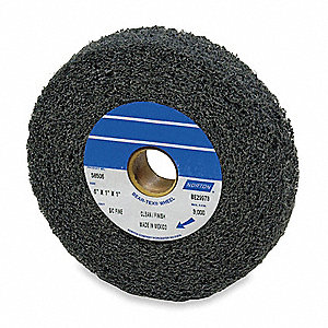 "6"" Convolute Wheel, 1"" Width, Silicon Carbide, 1"" Arbor Hole, Medium, Soft (4), EA1"