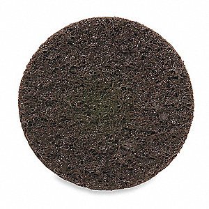 "6"" Non-Woven Hook-and-Loop Sanding Disc, 50 Abrasive Grit, Coarse Grade, Aluminum Oxide"