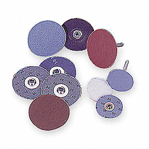 "2"" Coated Quick Change Disc, TS/TSM Turn-On/Off Type 2, 80, Coarse, Ceramic, 25 PK"
