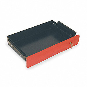 Drawer,40 lb.,Red,Steel,25 In. L