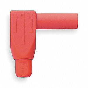 Right Angle Banana Plug, Red; 1000VAC/DC Hands Free Voltage, 1000VAC/DC Hand Held Voltage