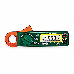 "Clamp On Digital Clamp Meter, 15/16"" Jaw Capacity, CAT III 300V"