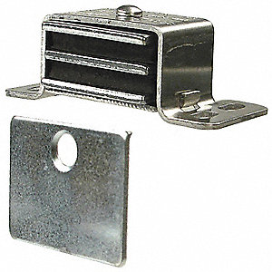 "Magnetic Non-locking Magnetic Catch, 2-1/16""H x 1""W, Aluminum Finish"