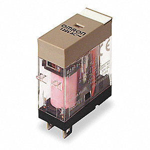 240VAC, 5-Pin Square Base General Purpose Plug-In Relay; AC Contact Rating: 10A @ 240V