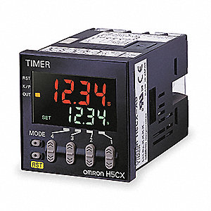Multifunction Digital Timer, 100-240VAC Coil Volts, 5 Contact Amp Rating (Resistive), Contact Form: