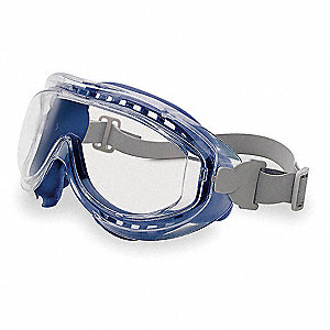 Anti-Fog Indirect Chemical Splash/Impact Resistant Goggles, Clear Lens