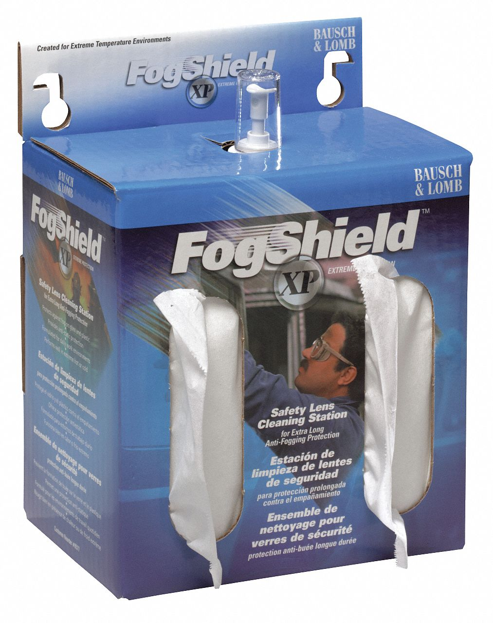 FogShield XP Lens Cleaning Station, Silicone Solution Type, Anti-Fog, Anti-Static Lens Treatment Pro