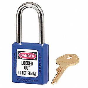 "Lockout Padlock,KA,Blue,1-3/4""H,PK12"