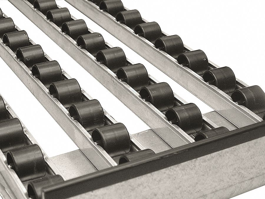 Multi-Rail Flow Rack Conveyor,  Skate Wheel,  2 ft 8 in Overall Length,  10 1/2 in Overall Width