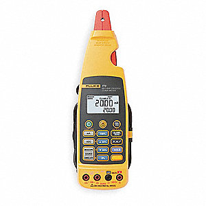 "Clamp On Digital Clamp Meter, 14° to 122°F Temp. Range, 11/64"" Jaw Capacity"