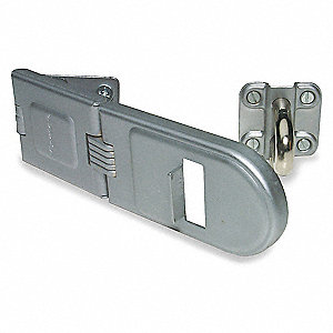 "Conventional Rotating Eye Hasp, 6-1/4"" Length, Steel, Bright Zinc Finish"