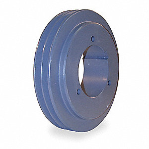 "V-Belt Pulley,SplitTpr,3.15""OD,Cast Iron"