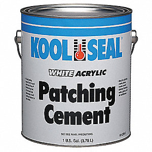 Acrylic Patching Cement, 115 oz. Size, White Color, Container Type: Can