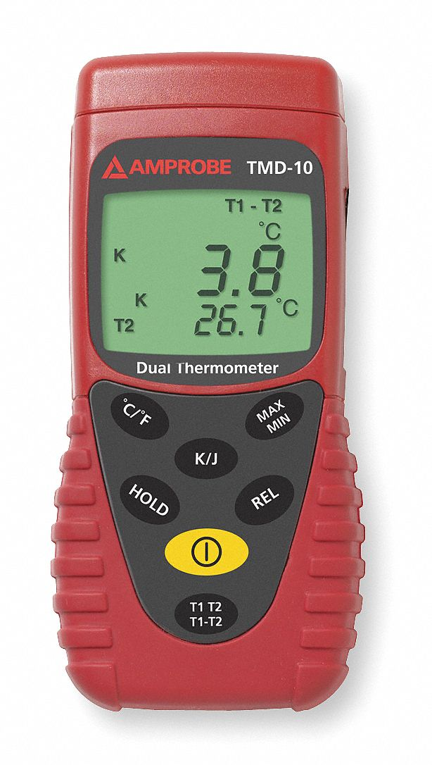 Thermocouple Thermometer,  Type J -328° to 1922°, Type K -328° to 2498° Temp. Range (F)