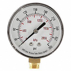 Pressure Gauge,Test,2-1/2 In