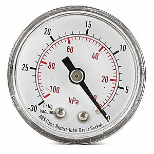 "1-1/2"" Test Pressure Gauge, 0 to 4000 psi"