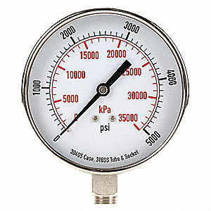 Pressure Gauge,Test,3-1/2 In