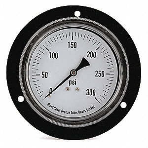 "3-1/2"" General Purpose Pressure Gauge, 0 to 300 psi"