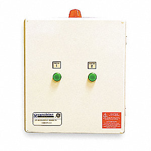 Alternating Duplex Control Panel Motor/Pump Control Box, 208/240/480V, 14 to 20 Amps