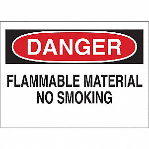 Danger No Smoking Sign,14 x 20In,ENG