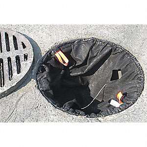 Catch Basin Insert,500 gpm,Black