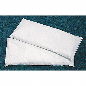 "Glass Cilicate Absorbent Pillow, Fluids Absorbed: Chemical / Hazmat, 16"" Length, 7"" Width"
