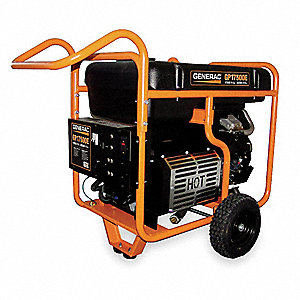 Portable Generator, 120/240VAC Voltage, 17,500 Rated Watts, 26,250 Surge Watts, 145.8/72.9 Amps @ 12