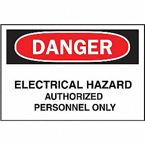 Danger Sign, Electrical Hazard, 7x10