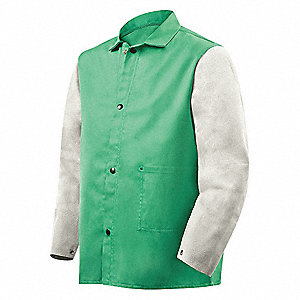 Flame-Resistant Jacket, Green/Gray, M