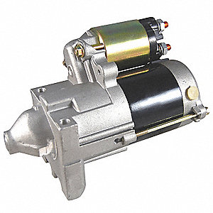 "12VDC Small Engine Starter Motor,2-5/8"" Bolt Center,Number of Mounting Holes: 2,Number of Teeth:12"