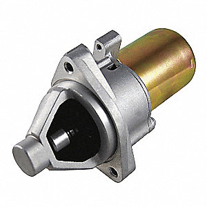 "12VDC Small Engine Starter Motor,3-1/4"" Bolt Center,Number of Mounting Holes: 4,Number of Teeth:14"