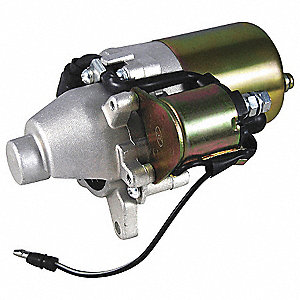 "12VDC Small Engine Starter Motor,1-15/16"" Bolt Center,Number of Mounting Holes: 2,Number of Teeth:17"