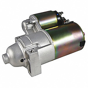 "12VDC Small Engine Starter Motor,2-11/16"" Bolt Center,Number of Mounting Holes: 2,Number of Teeth:10"